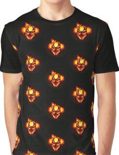 Glowing Clown Jack-o-Lantern Graphic T-Shirt