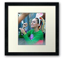 Miley Cyrus Signing Autographs Framed Print