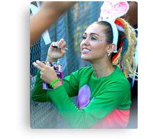 Miley Cyrus Signing Autographs Canvas Print