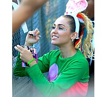 Miley Cyrus Signing Autographs Photographic Print