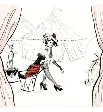 Fashion Circus Illustration Sticker