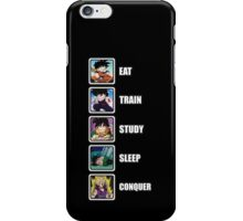 Eat, Train, Study, Sleep, Conquer (Gohan, Vertical) iPhone Case/Skin