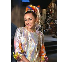 Miley Cyrus SNL 2015 Photographic Print