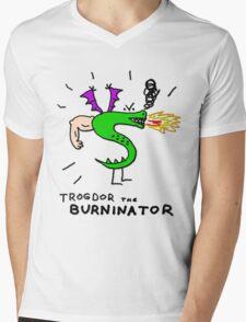 Trogdor, The Burninator Mens V-Neck T-Shirt