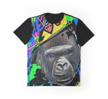 King Gorilla with Crown Splash Art Graphic T-Shirt