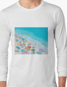 Beach painting - Summer Love Long Sleeve T-Shirt