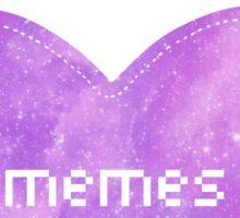 Memes - purple Sticker
