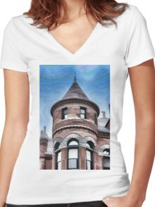 Dallas Architecture 27 Women's Fitted V-Neck T-Shirt
