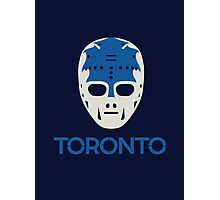 Vintage Toronto 70's Goalie Mask Photographic Print