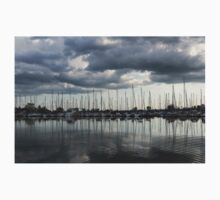 Yachts and Sailboats - the Silvery Calmness of Grays Kids Tee