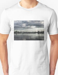 Yachts and Sailboats - the Silvery Calmness of Grays Unisex T-Shirt