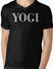 Serif Stamp Type - Yogi inverted Mens V-Neck T-Shirt