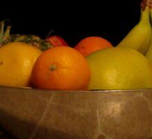 Fruit bowl still life Sticker