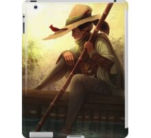 Lonely river Ferryman accompanied by a Cardinal iPad Case/Skin