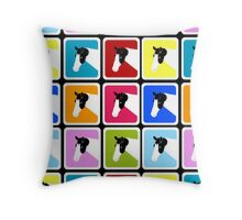 Paint Horse with Blue Eye Block Color Throw Pillow