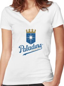 Paladins - WoW Baseball Women's Fitted V-Neck T-Shirt