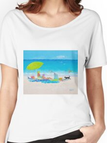 Beach painting - Lazy Beach Day Women's Relaxed Fit T-Shirt
