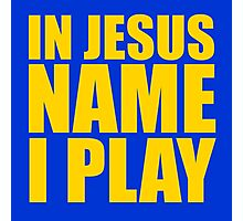 In Jesus Name I Play - Yellow Photographic Print