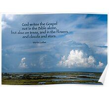 God writes the Gospel . . . Poster