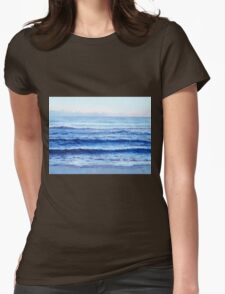 Ocean painting - Cobalt Blue Womens Fitted T-Shirt