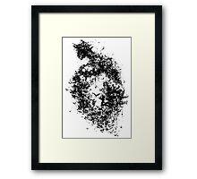 A Dark Cave Framed Print