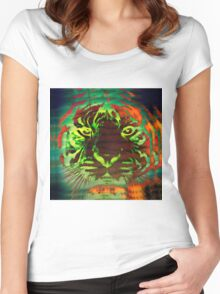 Tiger_8531 Women's Fitted Scoop T-Shirt