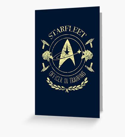 Starfleet Officer In Training (Yellow) Greeting Card