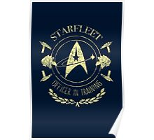 Starfleet Officer In Training (Yellow) Poster