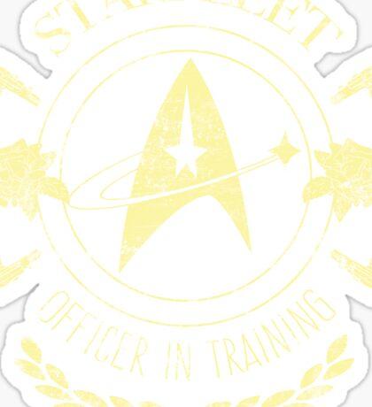 Starfleet Officer In Training (Yellow) Sticker