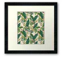 Tropical Pattern Framed Print