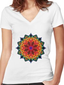 Mandala 105-160505-01 Women's Fitted V-Neck T-Shirt