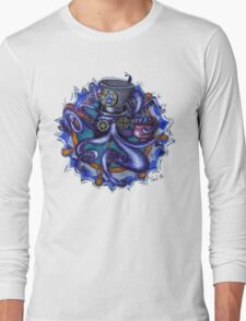 Steampunk Octopus Tentacle Tea Party Long Sleeve T-Shirt