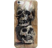 study with skulls iPhone Case/Skin