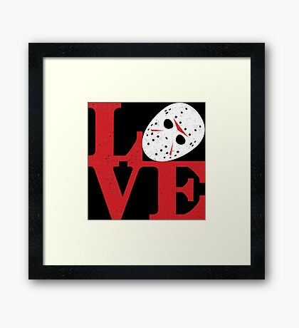 LOVE Friday the 13th Framed Print