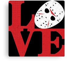 LOVE Friday the 13th Canvas Print