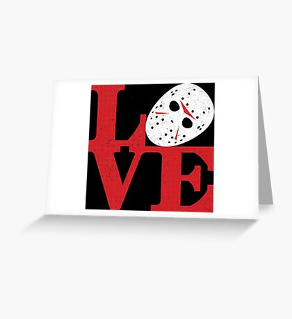LOVE Friday the 13th Greeting Card