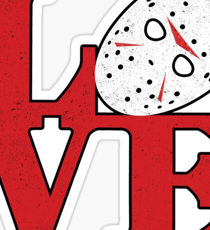 LOVE Friday the 13th Sticker