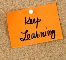 Keep Learning Sticker