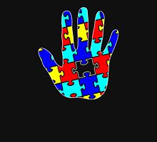 Autism Puzzle Hand Womens Fitted T-Shirt