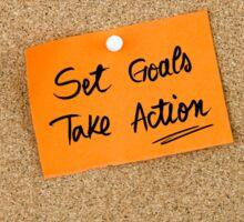 Set Goals Take Action Sticker