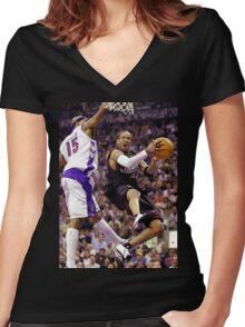 Allen Iverson retro flow Women's Fitted V-Neck T-Shirt
