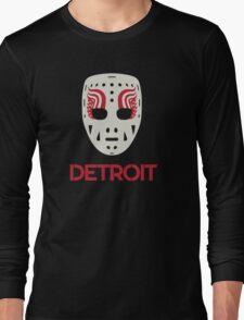 Vintage Detroit Red Wings Goalie Mask Long Sleeve T-Shirt