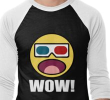 Wow! 3D Men's Baseball ¾ T-Shirt