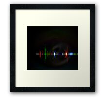 Wave Form Framed Print