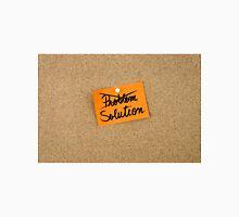 Solution written on orange paper note Unisex T-Shirt
