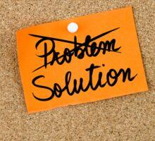 Solution written on orange paper note Sticker