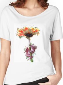 Frog with Flower Umbrella Women's Relaxed Fit T-Shirt