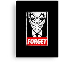 obey the silence Canvas Print