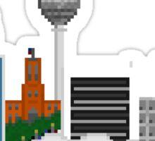 Berlin in pixel heaven Sticker