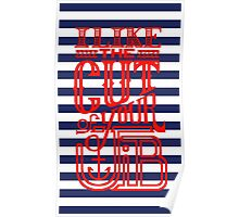 Cut of your Jib Typography – Red Poster